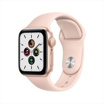Apple Watch SE GPS 44mm Gold Aluminium Case with Pink Sport Band