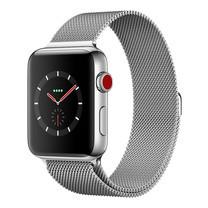 Apple Watch Series 3 (รุ่น GPS + Cellular) ตัวเรือนสแตนเลสสตีล พร้อมสายแบบ Milanese Loop 42 มม.