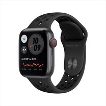 Apple Watch SE GPS+Cellular 40mm Space Gray Aluminum Case with Nike Sport Band - Anthracite/Black