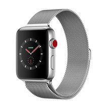 Apple Watch Series 3 (รุ่น GPS + Cellular) ตัวเรือนสแตนเลสสตีล พร้อมสายแบบ Milanese Loop 38 มม.