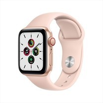 Apple Watch SE GPS+Cellular 40mm Gold Aluminum Case with Sport Band - Pink Sand