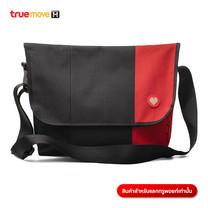 กระเป๋าสะพายข้างใบใหญ่ - สีดำ/แดง