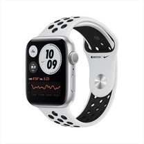 Apple Watch Series 6 GPS 44mm Silver Aluminum Case with Nike Sport Band - Pure Platinum/Black
