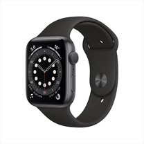 Apple Watch Series 6 GPS 44mm Space Gray Aluminum Case with Sport Band - Black