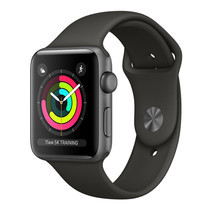 Apple Watch Series 3 (รุ่น GPS) - ตัวเรือนอะลูมิเนียม สีเทาสเปซเกรย์ พร้อมสายแบบ Sport Band สีเทา 42 มม.