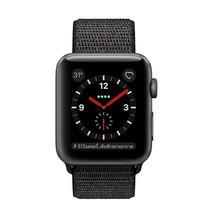 Apple Watch Series 3 (รุ่น GPS + Cellular) ตัวเรือนอะลูมิเนียม สีเทาสเปซเกรย์ พร้อมสายแบบ Sport Loop สีดำ 38 มม.