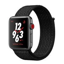 Apple Watch Nike+ Series 3 (รุ่น GPS + Cellular) ตัวเรือนอะลูมิเนียม สีเทาสเปซเกรย์ พร้อมสาย Nike Sport Loop สี Black/Pure Platinum 38 มม.