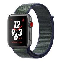 Apple Watch Nike+ Series 3 (รุ่น GPS + Cellular) ตัวเรือนอะลูมิเนียม สีเทาสเปซเกรย์ พร้อมสาย Nike Sport Loop สี Midnight Fog 42 มม.