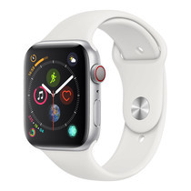 AppleWatch Series4 GPS+Cellular, 44mm Silver Aluminium Case with White Sport Band