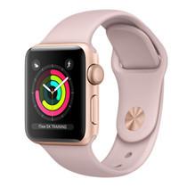 Apple Watch Series 3 (รุ่น GPS) - ตัวเรือนอะลูมิเนียม สีทอง พร้อมสายแบบ Sport Band สีชมพูพิงค์แซนด์ 38 มม.