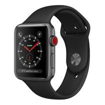 Apple Watch Series 3 (รุ่น GPS + Cellular) ตัวเรือนอะลูมิเนียม สีเทาสเปซเกรย์ พร้อมสายแบบ Sport Band สีดำ 42 มม.