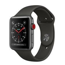 Apple Watch Series 3 (รุ่น GPS + Cellular) ตัวเรือนอะลูมิเนียม สีเทาสเปซเกรย์ พร้อมสายแบบ Sport Band สีเทา 38 มม.
