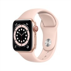 Apple Watch Series 6 GPS+Cellular 40mm Gold Aluminum Case with Sport Band - Pink Sand
