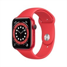Apple Watch Series 6 GPS+Cellular 44mm PRODUCT(RED) Aluminum Case with Sport Band - PRODUCT(RED)