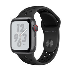 Apple Watch Nike+ Series 4 GPS + Cellular, 40mm Space Grey Aluminium Case with Anthracite/Black Nike Sport Band
