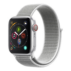 AppleWatch Series4 GPS+Cellular, 40mm Silver Aluminium Case with Seashell Sport Loop