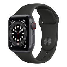 Apple Watch Series 6 GPS+Cellular 40mm Space Gray Aluminium with Sport Band - Black