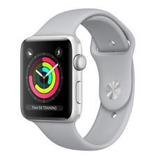 Apple Watch Series 3 (รุ่น GPS) - ตัวเรือนอะลูมิเนียม สีเงิน พร้อมสายแบบ Sport Band สีเทาหมอก 42 มม.