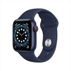 Apple Watch Series 6 GPS+Cellular 40mm Blue Aluminum Case with Sport Band - Deep Navy