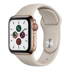 Apple Watch ซีรีย์ 5 รุ่น GPS + Cellular ตัวเรือนสแตนเลสสตีล สีสโตน พร้อมสายแบบ Sport Band สีสโตน ไซส์ 40 มม.