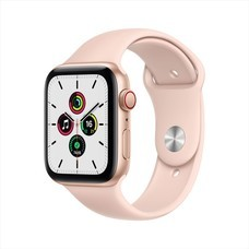 Apple Watch SE GPS+Cellular 44mm Gold Aluminum Case with Sport Band - Pink Sand