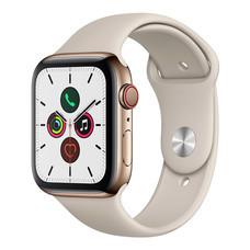Apple Watch ซีรีย์ 5 รุ่น GPS + Cellular ตัวเรือนสแตนเลสสตีล สีสโตน พร้อมสายแบบ Sport Band สีสโตน ไซส์ 44 มม.