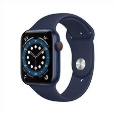 Apple Watch Series 6 GPS+Cellular 44mm Blue Aluminum Case with Sport Band - Deep Navy