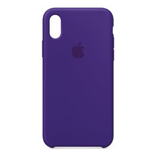 Silicone Case for iPhone X - สีม่วงไวโอเล็ต