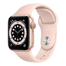 Apple Watch Series 6 Gold Aluminum Case with Sport Band - Pink Sand