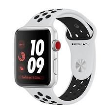Apple Watch Nike+ Series 3 (รุ่น GPS + Cellular) ตัวเรือนอะลูมิเนียม สีเงิน พร้อมสาย Nike Sport Band สี Pure Platinum/Black 38 มม.