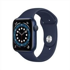 Apple Watch Series 6 GPS 44mm Blue Aluminum Case with Sport Band - Deep Navy