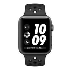 Apple Watch Nike+ (รุ่น GPS) ตัวเรือนอะลูมิเนียม สีเทาสเปซเกรย์ พร้อมสาย Nike Sport Band สี Anthracite/Black 38 มม.