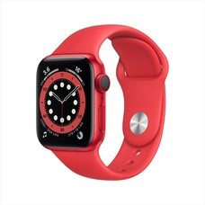 Apple Watch Series 6 GPS+Cellular PRODUCT(RED) Aluminum Case with Sport Band - PRODUCT(RED)