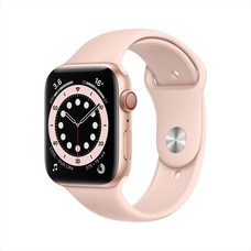 Apple Watch Series 6 GPS+Cellular 44mm Gold Aluminum Case with Sport Band - Pink Sand
