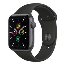 Apple Watch SE GPS 44mm Space Gray Aluminum Case with Sport Band - Black