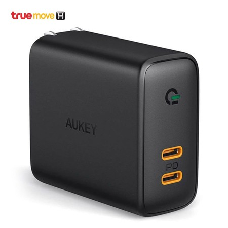 Aukey Focus Duo 36W Dual-Port PD Charger with Dynamic Detect รุ่น PA-D2