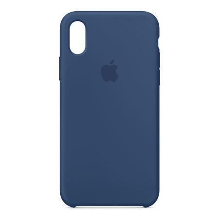 Silicone Case for iPhone X - สีบลูโคบอลต์