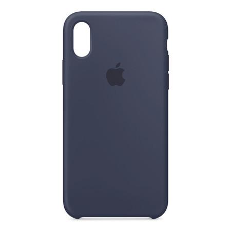 Silicone Case for iPhone X - สีมิดไนท์บลู