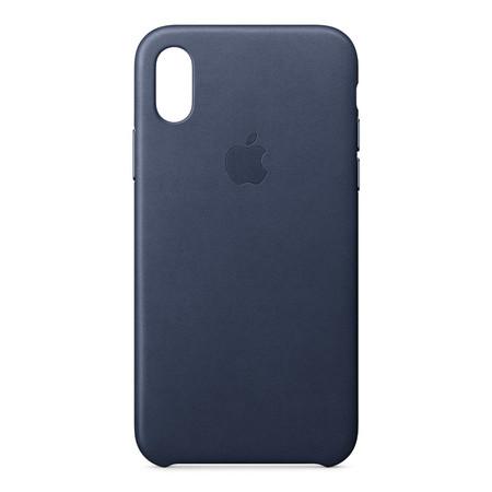 Leather Case for iPhone X - สีมิดไนท์บลู