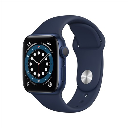 Apple Watch Series 6 Blue Aluminum Case with Sport Band - Deep Navy