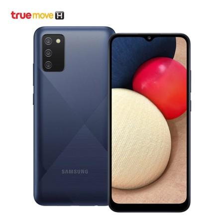 Samsung Galaxy A02s (รองรับเฉพาะเครือข่ายทรูมูฟ เอช เท่านั้น และเครื่องจะถูกล็อกหากค้างชำระค่าบริการ)