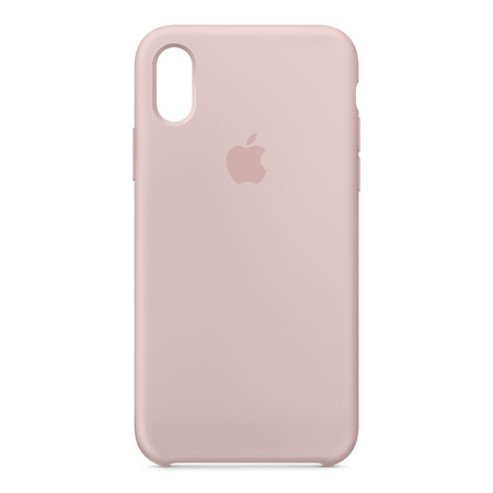 Silicone Case for iPhone X - สีชมพูพิงค์
