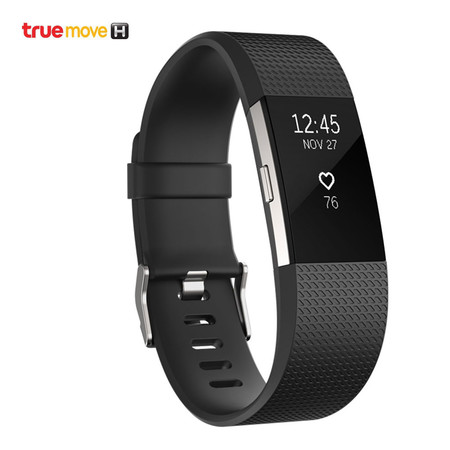 Fitbit Charge 2 - Black/Silver (Large)