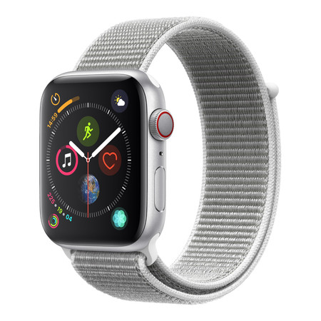 AppleWatch Series4 GPS+Cellular, 44mm Silver Aluminium Case with Seashell Sport Loop