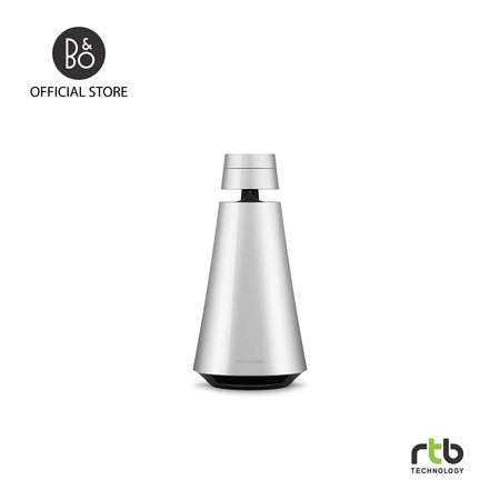 B&O ลำโพง รุ่น Beosound 1 GVA Portable Wireless Speaker Multiroom with Voice Assistant - Natural Aluminum