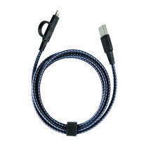 Energea สายชาร์จ Cable NyloTough 2 IN 1 Micro USB + Lightning 1.5M - Black