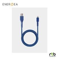 Energea FibraTough Cable, Charge and Sync Tough Lightning MFI 1.5m - Blue