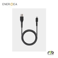 Energea FibraTough Cable, Charge and Sync Tough Lightning MFI 1.5m - Black