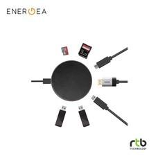 Energea แท่นชาร์จไร้สาย พร้อม Hub 7 In 1 รุ่น WiHub Wireless - Gunmetal