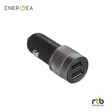 Energea Car Charger Alu Drive Duo USB Aluminium Car Charger 4.8A - Black